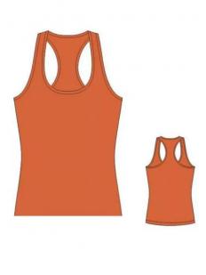 Женская оранжевая хлопковая майка со спинкой борцовкой
