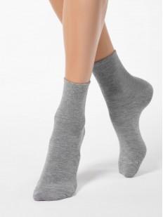 Высокие однотонные женские носки из вискозы и ангоры