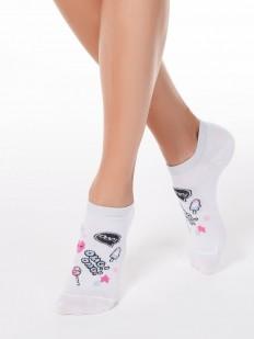 Короткие женские носки со сладким рисунком и надписями