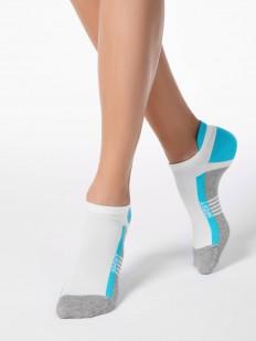 Спортивные укороченные женские носки с цветным рисунком