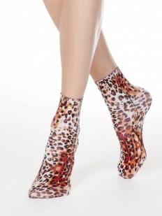 Трендовые женские носки с леопардовым принтом