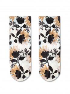 Женские носки с цветочным принтом 70 DEN