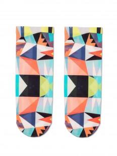 Женские носки с цветным геометрическим принтом 70 DEN