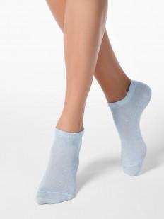 Короткие женские носки с блестящим люрексом
