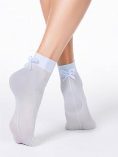Фантазийные летние женские носки с нежным бантиком