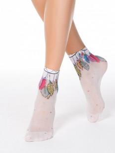 Модные капроновые женские носки с цветными ловцами снов
