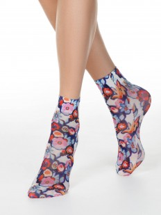 Женские носки со стильным цветочным принтом