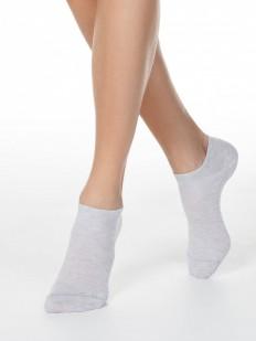 Укороченные однотонные женские носки из хлопка