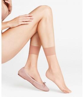 Женские высокие капроновые носки с широкой резинкой