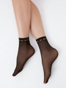 Капроновые матовые женские носки 20 ден с оригинальной резинкой