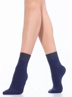 Плотные женские носки из микрофибры 70 ден с люрексом