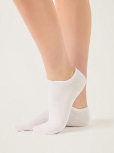 Ультракороткие однотонные женские носки из хлопка