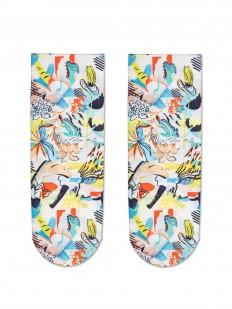 Яркие женские носки с разноцветным принтом