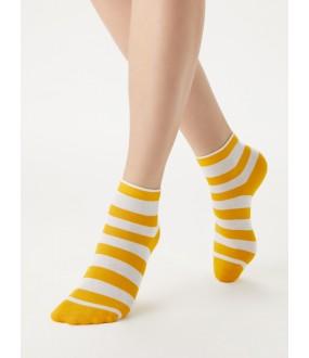 Женские хлопковые носки в цветную полоску