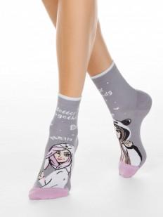 Хлопковые женские носки с рисунком для лучших подружек