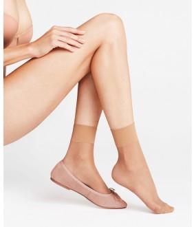 Женские капроновые матовые 20 ден носки с широкой резинкой