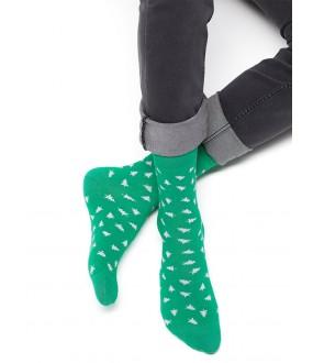 Цветные всесезонные мужские носки с елочками