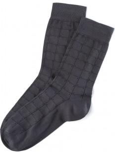 Хлопковые всесезонные мужские носки в клетку