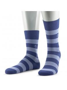 Премиальные мужские носки из мерсеризованного хлопка в полоску с якорем