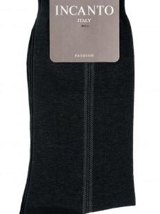 Мужские всесезонные носки из хлопка с контрастной полоской