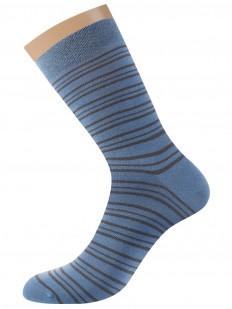 Всесезонные хлопковые мужские носки в полоску