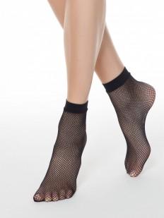 Классические женские носки в сеточку с комфортной резинкой