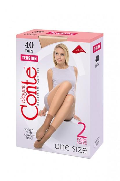 Женские капроновые носки с широкой комфортной резинкой Conte elegant Tension 40 socks (2 пары) - фото 1