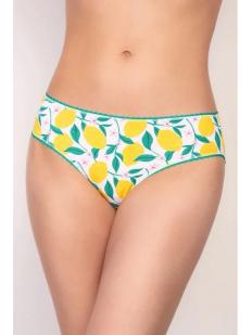Женские трусы слипы с насыщенным лимонным принтом