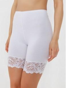 Хлопковые женские трусы панталоны с кружевной отделкой и высокой посадкой