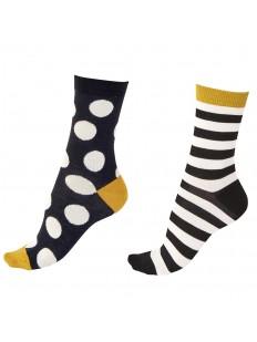 Женские носки из бамбуковой вискозы: 2 разноцветные пары в комплекте