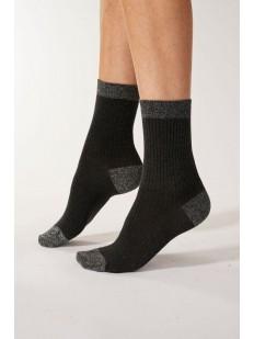 Высокие женские носки из хлопка с люрексом: 2 пары в упаковке