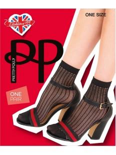 Женские носочки в сетку с оригинальным плетением