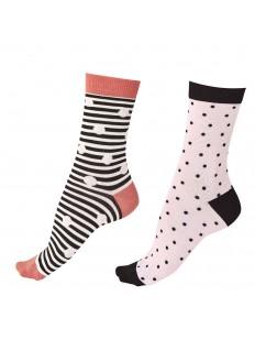 Женские бамбуковые носки: 2 пары с разным принтом в комплекте