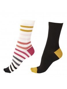 Высокие женские бамбуковые носки: 2 разноцветные пары в комплекте