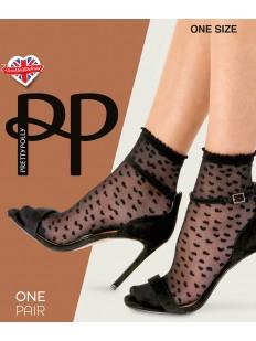 Капроновые прозрачные женские носки с сердечками