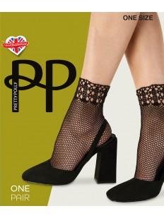 Трендовые женские носки в сеточку с переменным плетением