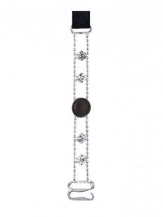 Металлические бретельки 10мм для бюстгальтера с блестящими кристаллами