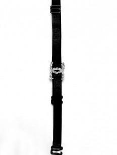 Тканевые бретели 10 мм для бюстгальтера на черных металлических крючках