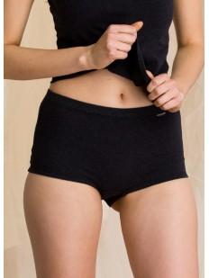 Женские хлопковые термо трусы шорты на зиму с высокой посадкой
