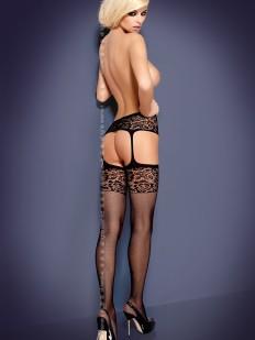 Чулки с поясом Obsessive S 500 Garter Stockings