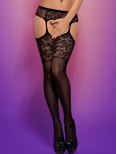 Чулки с поясом Obsessive S 211 Garter Stockings