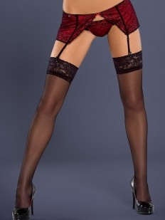 Чулки под пояс Obsessive S 802 stockings 20 den