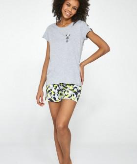Подростковая хлопковая пижама с шортами и футболкой для девочек