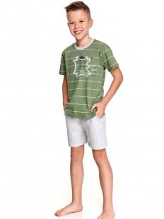 Детская пижама для мальчиков с шортами и футболкой в полоску
