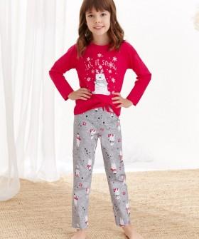 Детская хлопковая пижама для девочек в рождественском стиле