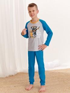 Детская пижама для мальчиков со штанами и принтованной кофтой