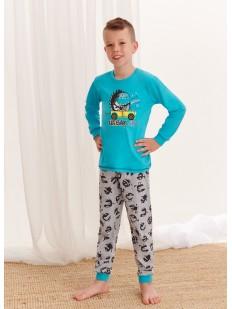 Детская пижама для мальчиков: брюки и кофта с ярким принтом