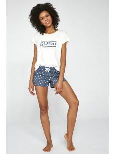 Подростковая пижама для девочек с шортами в горошек