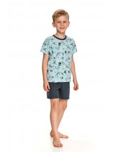 Детская пижама для мальчиков с шортами и принтованной футболкой