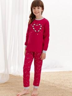 Рождественская пижама для девочек со штанами и кофтой
